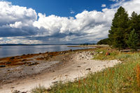 White Sea coast at low tide, Kola Peninsula, Russia