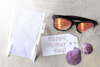 Sunny Flat Lay Summer Label Happy Mothers Day