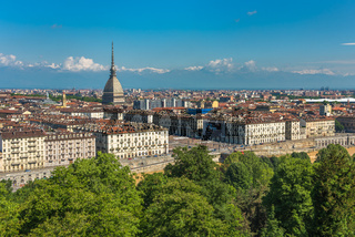 Panorama of Turin skyline