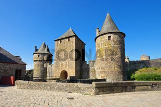 Fougeres Burg  in der Bretagne, Frankreich - Fougeres castle in Brittany, France
