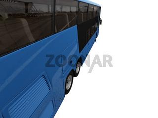 isolated bus on white background