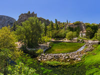 Village Fontaine-de-Vaucluse in Provence France