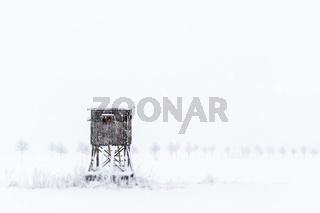 Winterlandschaft Hochsitz