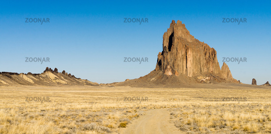 Rocky Craggy Butte Shiprock New Mexico United States