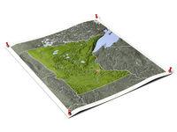 Minnesota on unfolded map sheet.