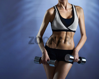 Healthy and strong fitness model