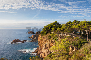 Mediterranean Sea Coast in Tossa de Mar