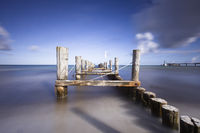 old pier on the beach from zingst