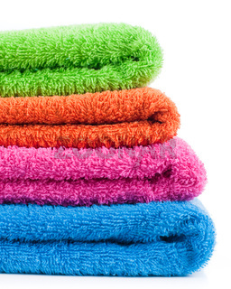 Colorful bath towels