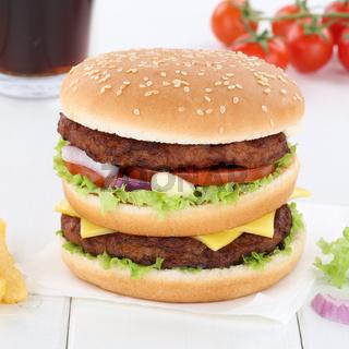 Doubleburger Double Burger Hamburger Cola Getränk