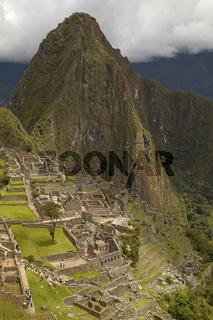 People Visiting Lost Incan City of Machu Picchu near Cusco in Peru