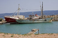 Alte Schiffe vor Anker