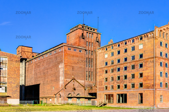 Historic harbor warehouses in Wismar