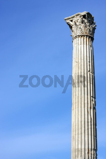 Ancient Greek column in Athens