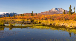 Ancient Volcano Sits Dormant Near Alaskan Pond