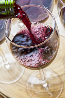 Red Wine Being Poured