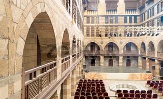 Courtyard of caravanserai (Wikala) of al-Ghuri, Medieval Cairo, Egypt