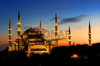 Illuminated Blue Mosque