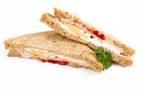 sandwich with turkey and egg