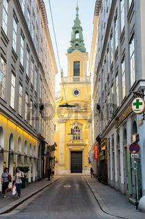 The Reformierte Stadtkirche church in Vienna