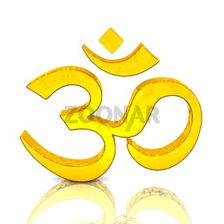 3D - Magic golden OM sign