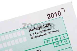 Anlage SZE / German tax form