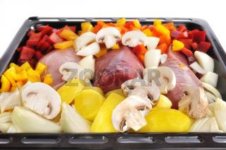 Fleisch und Gemüse