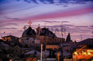 Jerusalem old town at night