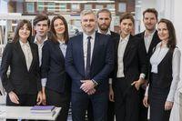 Portrait business team in office