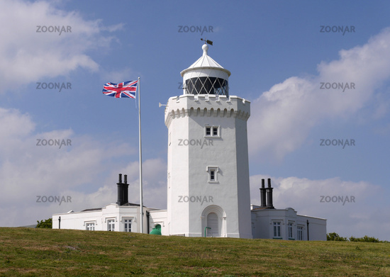 Lighthouse South Foreland at White Cliffs of Dover