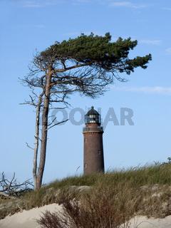 Leuchtturm Darsser Ort und Windflüchter