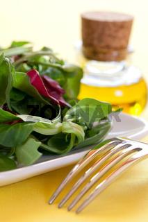 Salat auf Teller