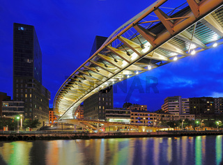 Bilbao - Zubizuri Bridge at Night