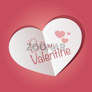 valentine pink heart symbol vector