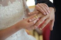Exchange of the wedding ring