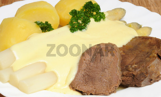 Spargel mit Zunge / Asparagus with ox tongue