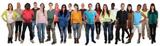 Menschen lachen glücklich multikulturell People große Gruppe junge Leute