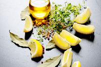 Oil and lemons