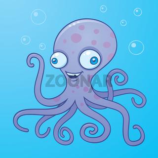 Silly Octopus Cartoon
