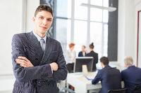 Junger Mann als Student oder Gründer