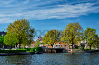 Canal in Haarlem, Netherlands