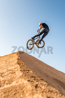 BMX Bike Stunt look back
