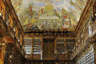 Philosophischer Saal der Bibliothek im Kloster Strahov, Prag, Ts