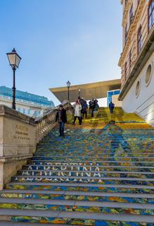 VIENNA, AUSTRIA - DECEMBER 29, 2016: The Stairs at Albertina Museum on December 29, 2016 in Vienna Austria