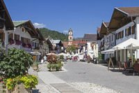 Mittenwald - boulevard in the center