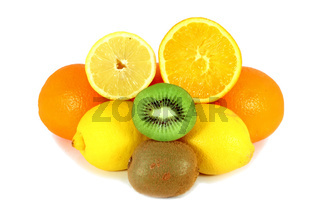 Citrus fruits and kiwi