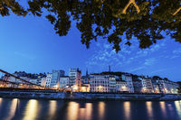 Architecture of Lyon along Saone River