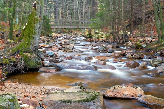 the river Ilse at Ilsenburg at the foot of the Brocken in the Harz National Park