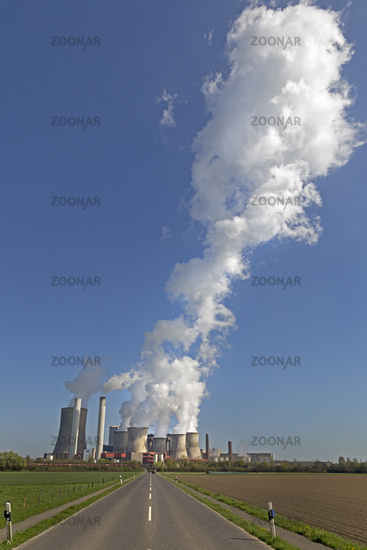 Lignite-fired power plant Niederaussem, operated by RWE Power, Bergheim, Northrhine-Westphalia, Germ