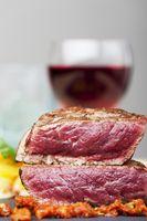 Steak mit Rotwein